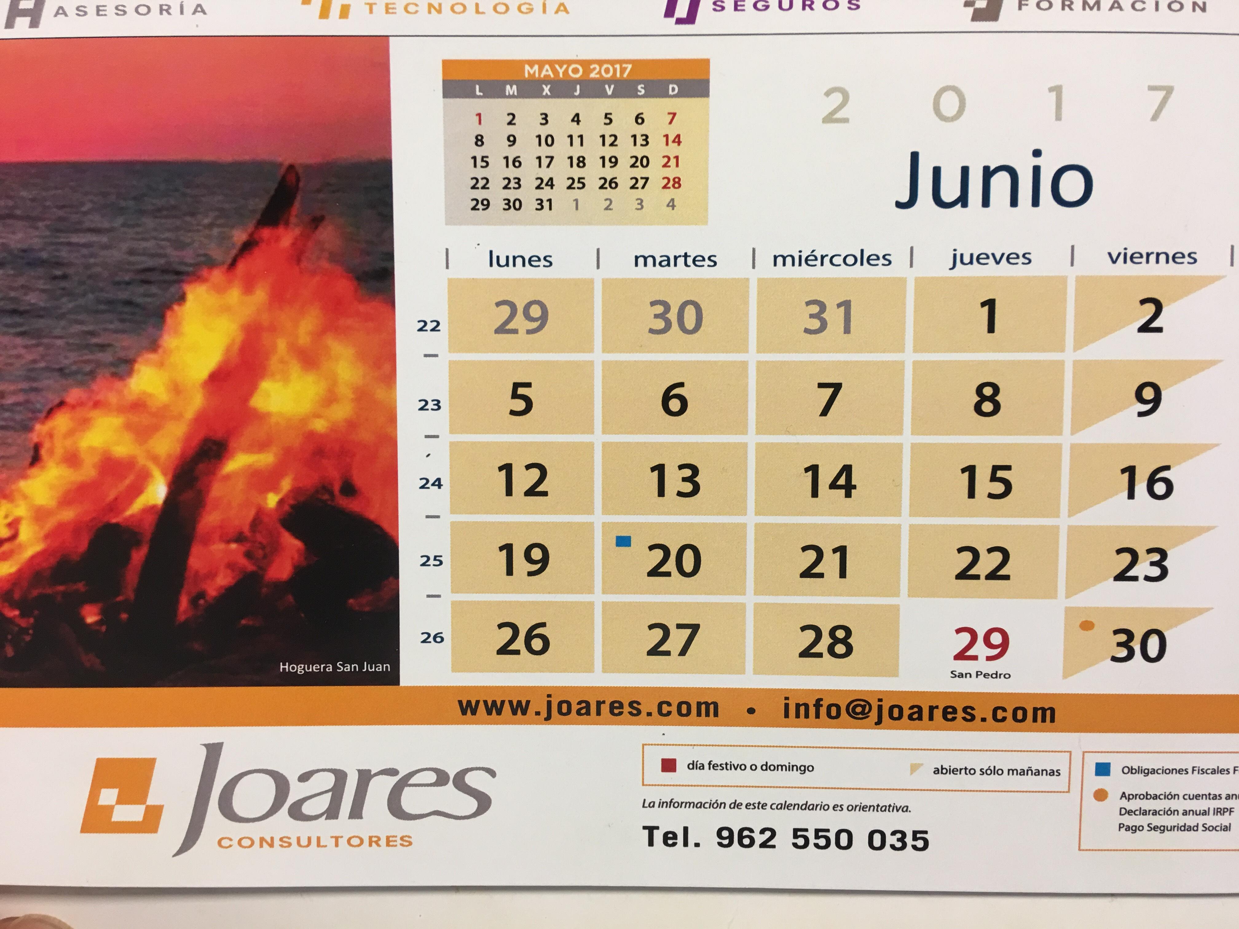 Obligaciones fiscales para el 20 de junio de 2.017